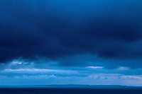 The Orkney Island of South Ronaldsay and The Pentland Firth from Duncansby Head, John o' Groats, Caithness