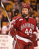 Michael Floodstrand (Harvard - 44) - The Boston College Eagles defeated the Harvard University Crimson 3-2 in the opening round of the Beanpot on Monday, February 1, 2016, at TD Garden in Boston, Massachusetts.