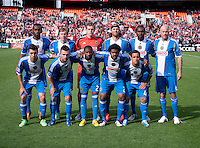 The Philadelphia Union lines up before the game at the RFK Stadium in Washington DC.  Philadelphia defeated D.C. United, 3-2.