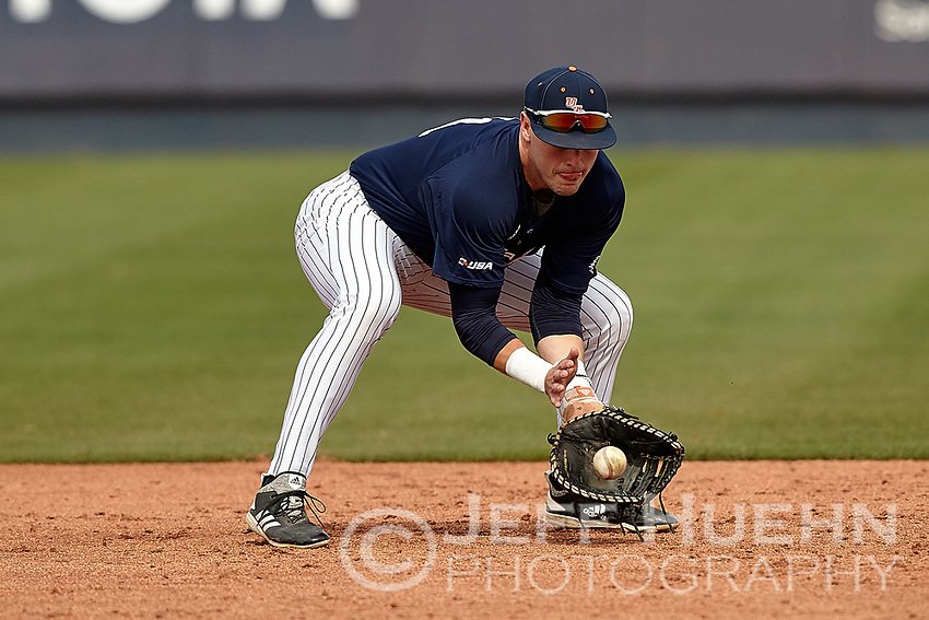 SAN ANTONIO, TX - MARCH 5, 2019: The University of Texas at San Antonio Roadrunners fall to the Texas State University Bobcats 8-3 at UTSA Roadrunner Field. (Photo by Jeff Huehn)