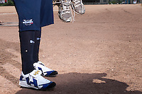 24 May 2009: Close view of Lace shoes during the 2009 challenge de France, a tournament with the best French baseball teams - all eight elite league clubs - to determine a spot in the European Cup next year, at Montpellier, France. Rouen wins 7-5 over Savigny.