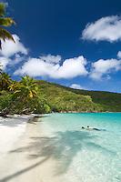Snorkelers at Maho Bay<br /> Virgin Islands National Park<br /> St. John, U.S. Virgin Islands