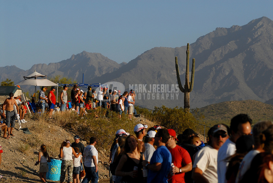 Apr 22, 2006; Phoenix, AZ, USA; Fans watch the Subway Fresh 500 at Phoenix International Raceway. Mandatory Credit: Mark J. Rebilas-US PRESSWIRE Copyright © 2006 Mark J. Rebilas..