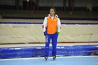 SCHAATSEN: HEERENVEEN: IJsstadion Thialf, 15-11-2012, World Cup Training, Seizoen 2012-2013, Jan van Veen (trainer/coach Team Van Veen), ©foto Martin de Jong