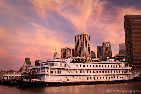 Sunset over the San Francisco Belle