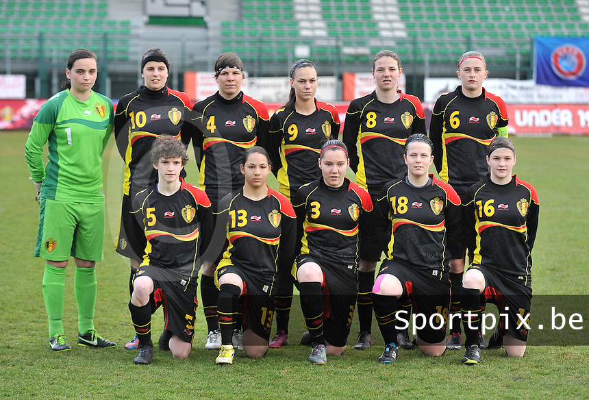 Russia U19 - Belgium U19 : Team Belgium.foto DAVID CATRY / Nikonpro.be