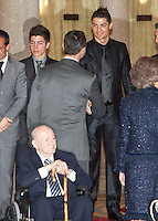 Cristiano Ronaldo and Prince Felipe of Spain attend the National Sports Awards ceremony at El Pardo Palace. December 05, 2012. (ALTERPHOTOS/Caro Marin) NortePhoto