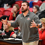 Highland coach Clint Hamilton yells in to his team. Highland played Civic Memorial in the Class 3A Effingham sectional championship game at Effingham High School in Effingham, Illinois on Thursday February 27, 2020. <br /> Tim Vizer/Special to STLhighschoolsports.com