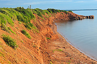 Iron rich red soil along the Northumberland Strait<br /> Cape Bear<br /> Prince Edward Island<br /> Canada