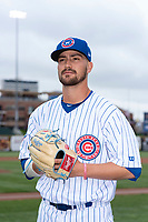 South Bend Cubs pitcher Peyton Remy (18) poses for a photo before a Midwest League game against the Cedar Rapids Kernels at Four Winds Field on May 7, 2019 in South Bend, Indiana. (Zachary Lucy/Four Seam Images)