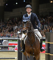 McLain Ward (USA), riding HH Carlos Z at the Gucci Gold Cup International Jumping competition at the 2015 Longines Masters Los Angeles at the L.A. Convention Centre.<br /> October 3, 2015  Los Angeles, CA<br /> Picture: Paul Smith / Featureflash