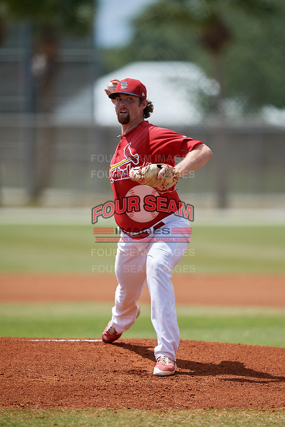 St. Louis Cardinals pitcher Sam Tewes (44) during a Minor League Spring Training game against the Miami Marlins on March 26, 2018 at the Roger Dean Stadium Complex in Jupiter, Florida.  (Mike Janes/Four Seam Images)