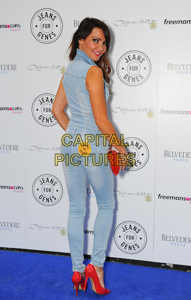LONDON, ENGLAND, SEP 02: Lizzie Cundy at Jeans for Genes Day 2014 - Launch Party, Chinawhite, London, England, UK, <br /> September 2nd 2014.<br /> CAP/PP/GM<br /> Gary Mitchell/PP/Capital Pictures