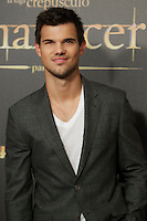 Taylor Lautner during the premiere of The Twilight Saga: Breaking Dawn. November 15, 2012. (ALTERPHOTOS/Alvaro Hernández) /NortePhoto
