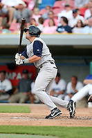 June 15 2008:  Third baseman Justin Baum (16) of the Fort Wayne Wizards, Class-A affiliate of the San Diego Padres, during a game at Fifth Third Field in Comstock Park, MI.  Photo by:  Mike Janes/Four Seam Images