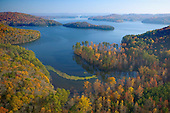 Guntersville Lake with autumn colors