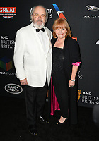 Lesley Nicol &amp; David Keith Heald at the 2017 AMD British Academy Britannia Awards at the Beverly Hilton Hotel, USA 27 Oct. 2017<br /> Picture: Paul Smith/Featureflash/SilverHub 0208 004 5359 sales@silverhubmedia.com