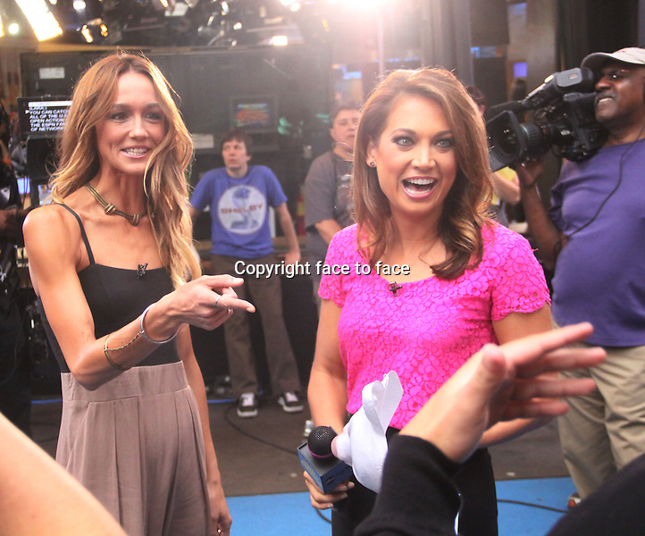 August 22, 2013 Ginger Zee interview Sharni Vinson at Good Morning America to talk about her new horror movie You Are Next in New York City.<br />