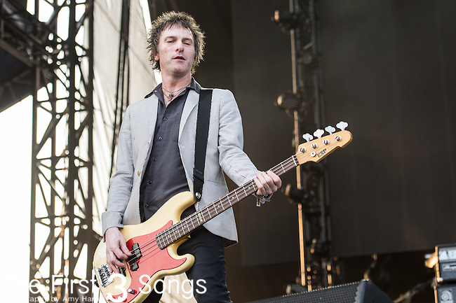 Tommy Stinson of The Replacements perform during the Forecastle Music Festival at Waterfront Park in Louisville, Kentucky.