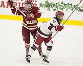 Kali Flanagan (BC - 10), Miye D'Oench (Harvard - 19) - The visiting Boston College Eagles defeated the Harvard University Crimson 2-0 on Tuesday, January 19, 2016, at Bright-Landry Hockey Center in Boston, Massachusetts.