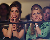 Boston, MA - July 27, 2004 -- Alexandra Kerry and Vanessa Kerry, daughters of United States Senator John F. Kerry (Democrat of Massachusetts) listen as Theresa Heinz Kerry, wife of the Senator, speaks at the 2004 Democratic National Convention in Boston, Massachusetts on July 27, 2004..Credit: Ron Sachs / CNP