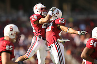 18 November 2006: Trevor Hooper and Brandon Harrison during Stanford's 30-7 loss to Oregon State at Stanford Stadium in Stanford, CA.