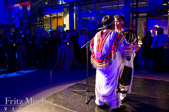 Throat singers perform at gala event at the 2010 Vancouver Olympics