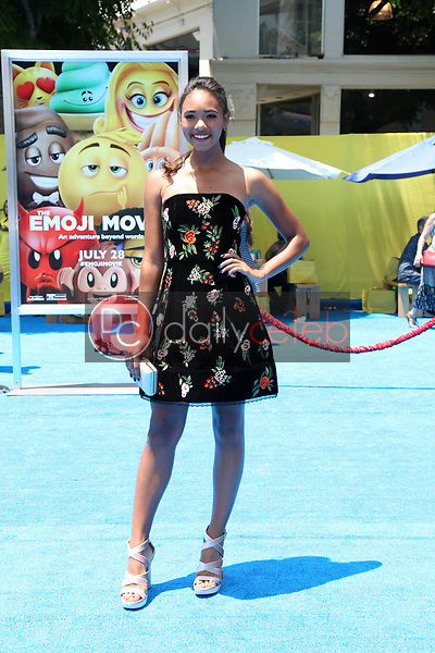 """Chandler Kinney<br /> at the premiere of """"The Emoji Movie,"""" Village Theater, Westwood, CA 07-23-17<br /> David Edwards/DailyCeleb.com 818-249-4998"""
