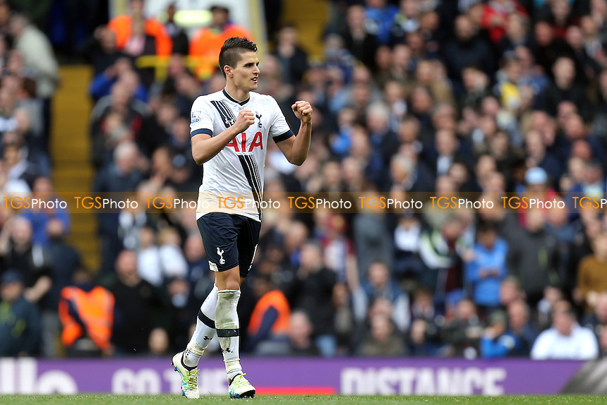 Erik Lamela of Tottenham Hotspur celebrates scoring the third goal during Tottenham Hotspur vs Manchester United, Barclays Premier League Football at White Hart Lane on 10th April 2016
