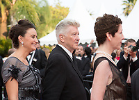 Emily Stofle, David Lynch, guest at the premiere for 'Twin Peaks' at the 70th Festival de Cannes. <br /> May 25, 2017 Cannes, France<br /> Picture: Kristina Afanasyeva / Featureflash