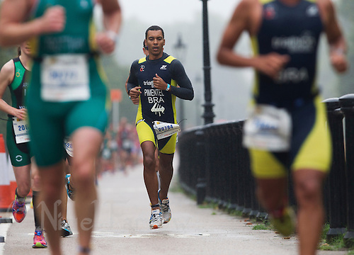 13 SEP 2013 - LONDON, GBR - Tercio Pimentel (BRA) of Brazil runs through Hyde Park in London, Great Britain during the ITU 2013 World Age Group Sprint Distance Triathlon Championships (PHOTO COPYRIGHT © 2013 NIGEL FARROW, ALL RIGHTS RESERVED)