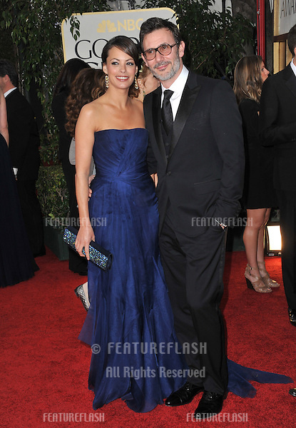 Berenice Bejo & Michel Hazanavicius at the 69th Golden Globe Awards at the Beverly Hilton Hotel..January 15, 2012  Beverly Hills, CA.Picture: Paul Smith / Featureflash