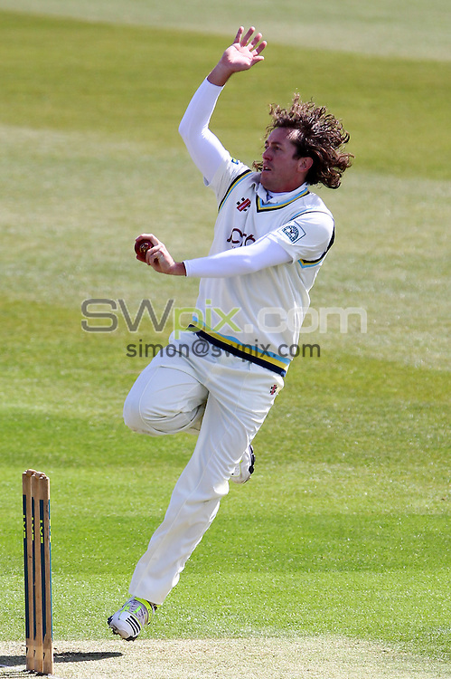 PICTURE BY ALEX WHITEHEAD/SWPIX.COM - Cricket - Friendly Match, Day 1 - Yorkshire vs Lancashire - Headingley, Leeds, England - 16/04/13 - Yorkshire's Ryan Sidebottom delivers the ball.