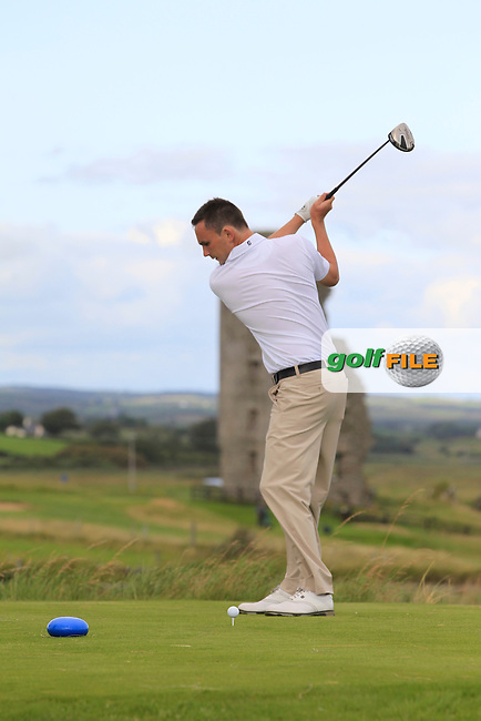 Ian O'Rourke (The Royal Dublin) on the 13th tee during Round 2 of The South of Ireland in Lahinch Golf Club on Sunday 27th July 2014.<br /> Picture:  Thos Caffrey / www.golffile.ie