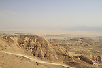 Israel, Negev, a view of the Arava from Khan Shacharut