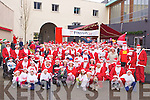 The large crowd at the start of the Santa run in Killarney on Saturday..