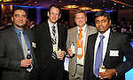 From left: Jason Muise, Norm Dimmell, Peter Russell-Smith and Ramanathan Ramaswamy at the Technip reception at the Hotel Derek Tuesday May 1,2012. (Dave Rossman Photo)