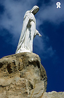 Virgin-Mary statue at Notre-Dame-de-la -Serra church, Corsica island,  France (Licence this image exclusively with Getty: http://www.gettyimages.com/detail/82406714 )