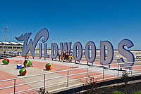 Wildwoods Large Sign and Convention Center on the Boardwalk in Wildwood, New Jersey