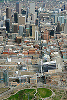 Aerial view Downtown Denver looking south.  May 2013. 87317