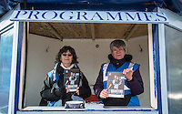 Programme Sellers prepare for the match during the Sky Bet League 2 match between Wycombe Wanderers and Bristol Rovers at Adams Park, High Wycombe, England on 27 February 2016. Photo by Andy Rowland.