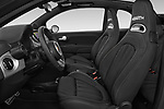 Front seat view of a 2018 Abarth 595 Turismo Base 2 Door Convertible front seat car photos