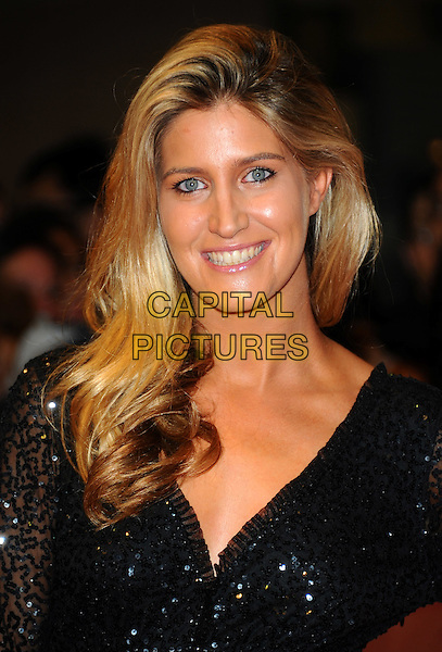 "Francesca Hull.""One Day"" UK premiere, Vue Westfield cinema, Westfield Shopping Centre, London, England..August 23rd, 2011.headshot portrait black sequins sequined smiling .CAP/CJ.©Chris Joseph/Capital Pictures."