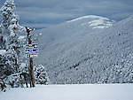 Alpine ski trails at Saddleback Mountain in Sandy River Plantation, Maine, USA