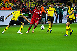 10.11.2018, Signal Iduna Park, Dortmund, GER, 1.FBL, Borussia Dortmund vs FC Bayern M&uuml;nchen, DFL REGULATIONS PROHIBIT ANY USE OF PHOTOGRAPHS AS IMAGE SEQUENCES AND/OR QUASI-VIDEO<br /> <br /> im Bild | picture shows:<br /> Renato Sanches (Bayern #35) gegen Achraf Hakimi (Borussia Dortmund #5), Mahmoud Dahoud (Borussia Dortmund #19) und Axel Witsel (Borussia Dortmund #28), <br /> <br /> Foto &copy; nordphoto / Rauch