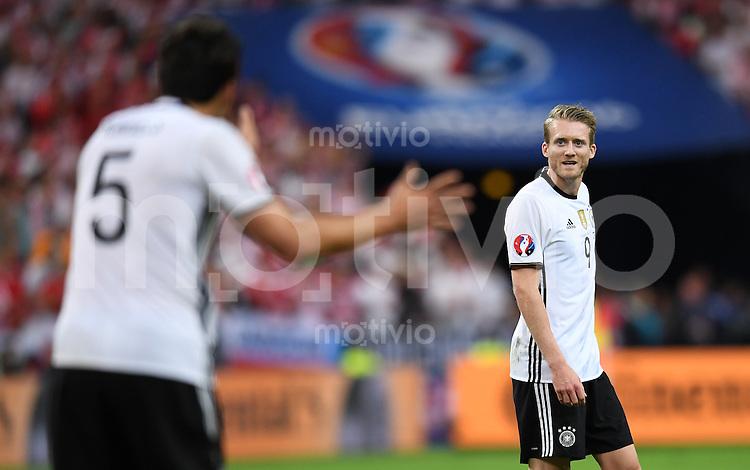 FUSSBALL EURO 2016 GRUPPE C IN PARIS Deutschland - Polen    16.06.2016 Andre Schuerrle  (Deutschland)