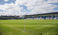 General view of the Stadium during the International match between England U19 and Netherlands U19 at New Bucks Head, Telford, England on 1 September 2016. Photo by Andy Rowland.