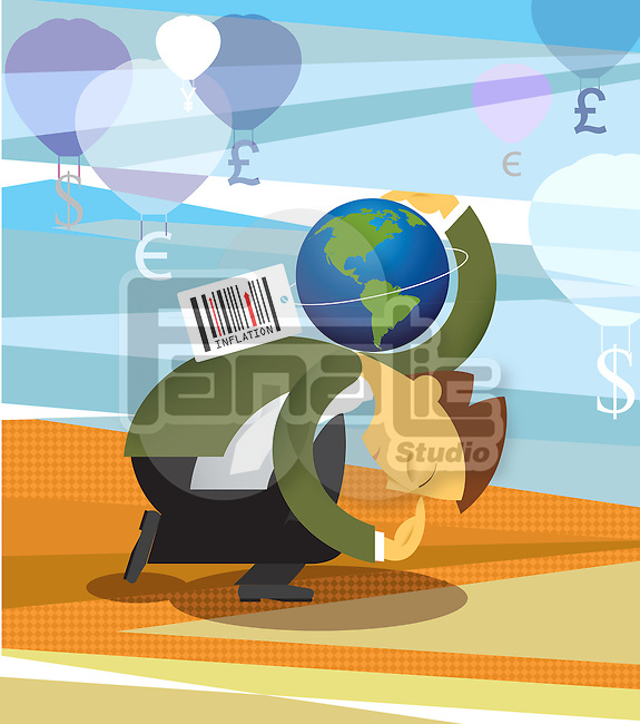Conceptual image representing inflation in economy