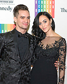 Brendon Urie and his wife, Sarah, arrive for the formal Artist's Dinner honoring the recipients of the 2013 Kennedy Center Honors hosted by United States Secretary of State John F. Kerry at the U.S. Department of State in Washington, D.C. on Saturday, December 7, 2013. The 2013 honorees are: opera singer Martina Arroyo; pianist,  keyboardist, bandleader and composer Herbie Hancock; pianist, singer and songwriter Billy Joel; actress Shirley MacLaine; and musician and songwriter Carlos Santana.<br /> Credit: Ron Sachs / CNP