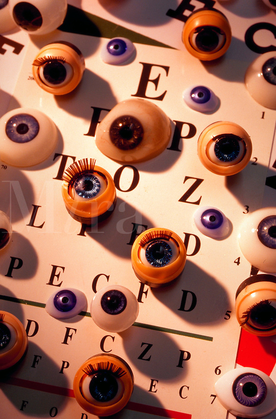 Eyeballs and a reading chart